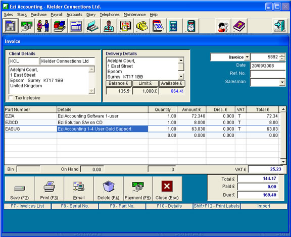 Click to view Ezi Accounting screenshots
